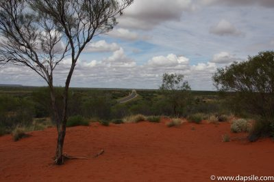 A Road in the Red Outback when visiting the Alice Springs area