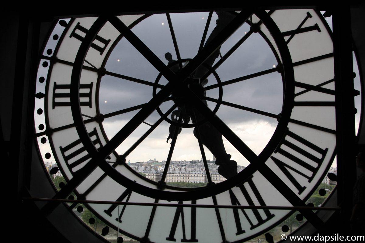 Paris through a clock at Musee d'Orsay