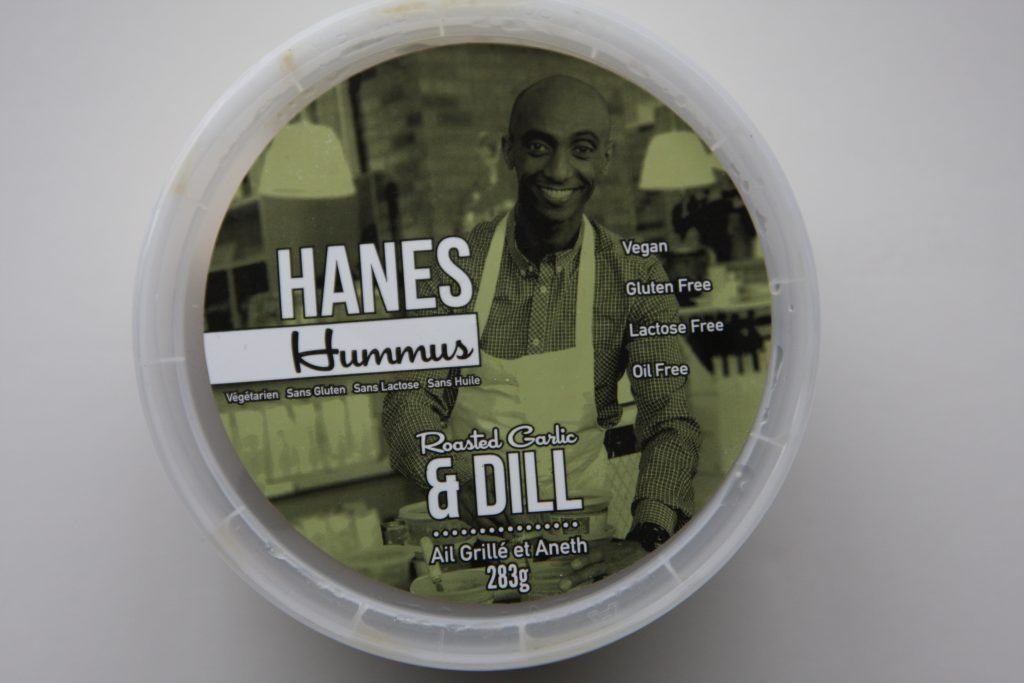 Hanes Hummus roasted garlic & dill lid