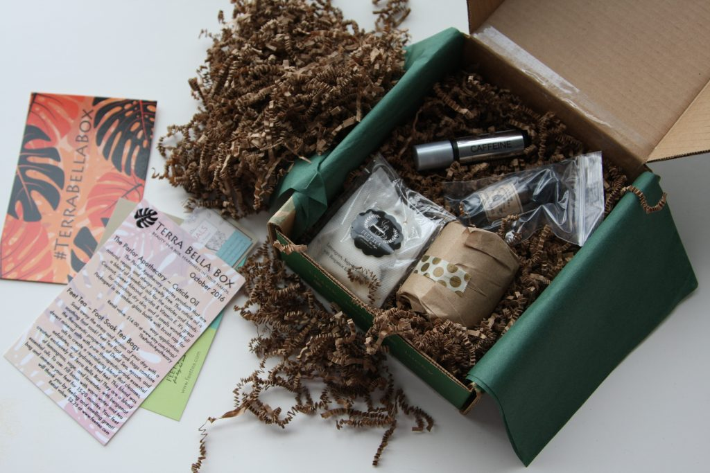 October Terra Bella Subscription Box contents