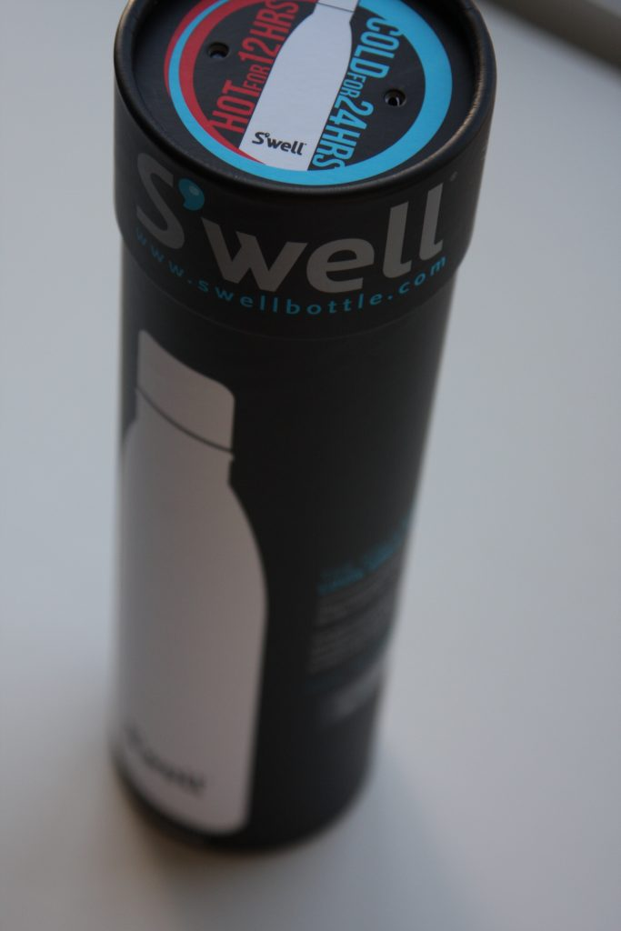 Swell Water Bottle Packaging from the top