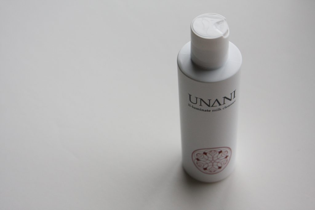 Unani Milk Cleanser bottle from top