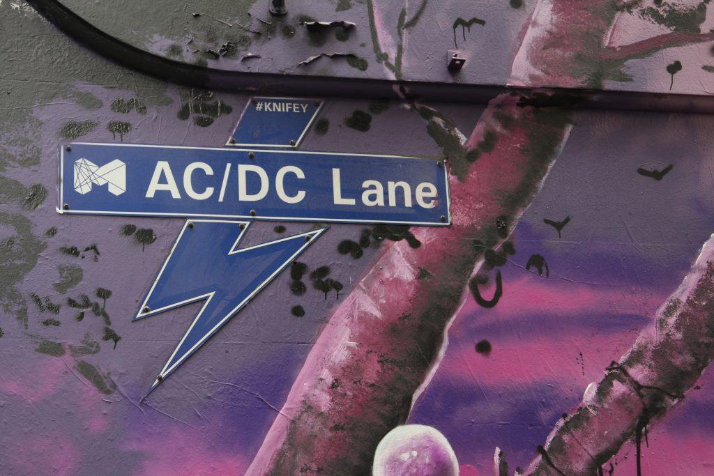 AC/DC Lane sign