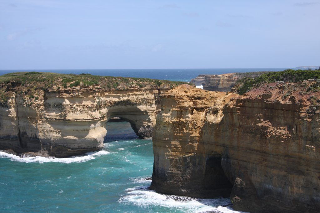 view of coast at a stop along the Great Ocean Road