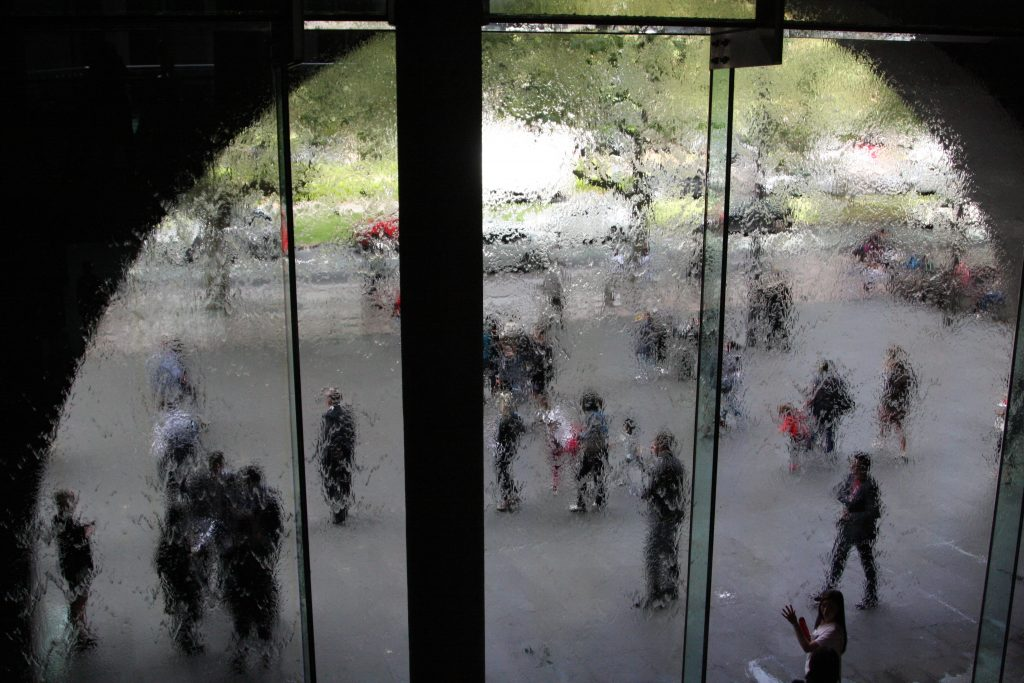 Water Wall at the entrance of the NGV