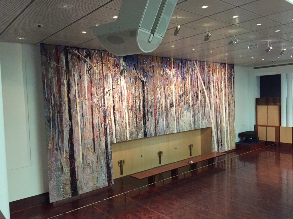giant tapestry in the Great Hall of the new Parliament House based on a painting by Arthur Boyd