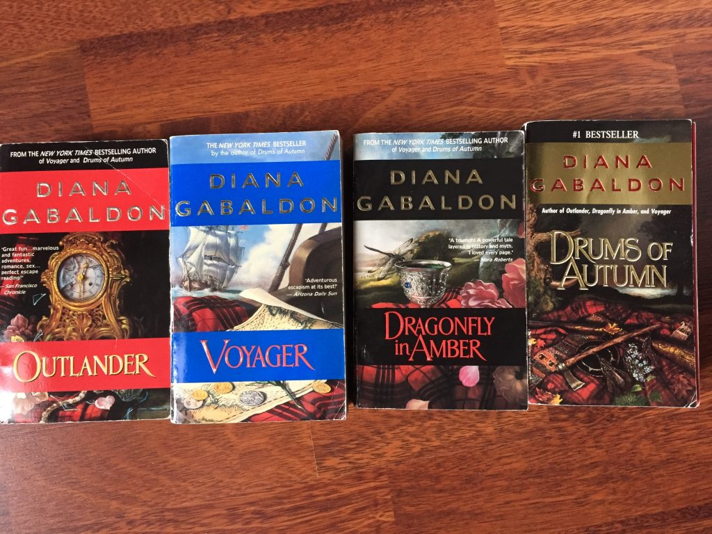 The 4 Diana Gabaldon Books that Started It All. Outlander, Voyager, Dragonfly in Amber & Drums of Autumn - favourite authors
