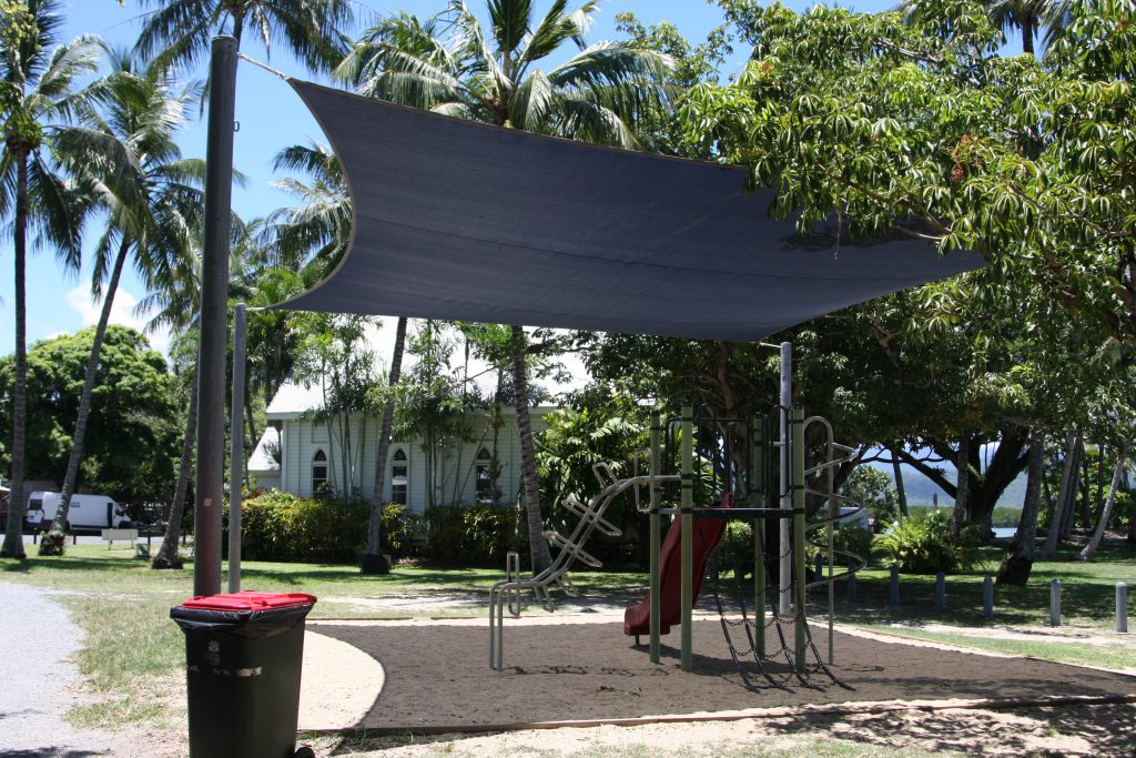 covered children's playground in Port Douglas