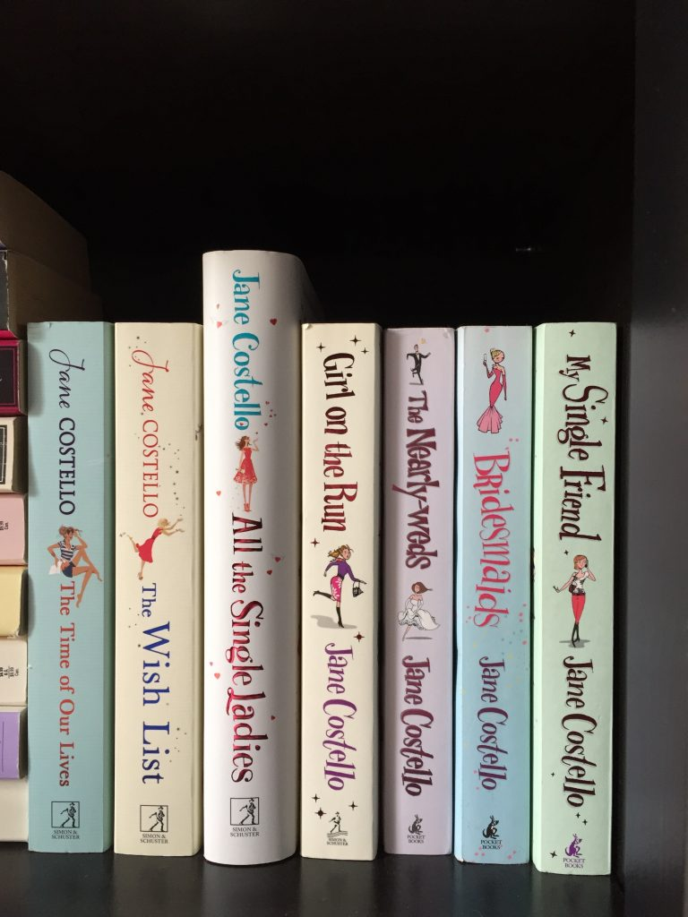 The Jane Costello Book Collection on the book shelf - favourite authors