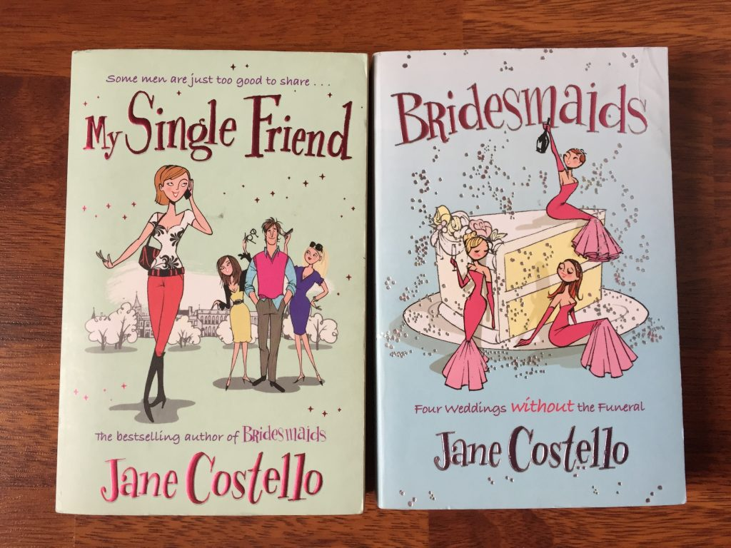The 2 Jane Costello Books that Started It All. My Single Friend and Bridesmaids - favourite authors