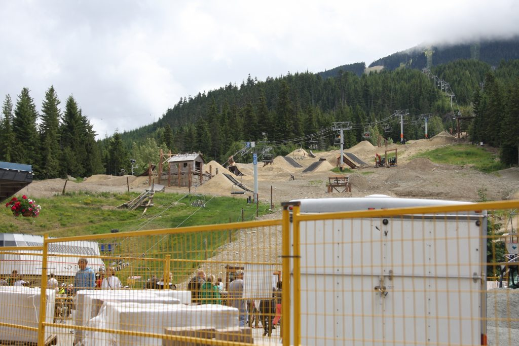 the ski hill transformed for Summer Adrenaline activities in Whistler