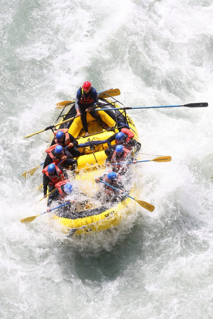 raft of people White Water Rafting for Adreneline Rush