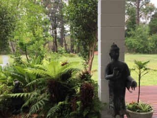 A View from the Yoga Room at Swami's Yoga Retreat