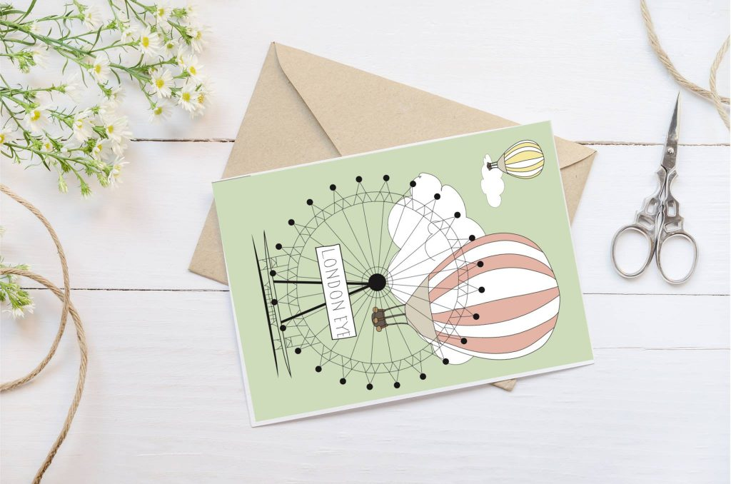 London Eye card sample from Papier Mail