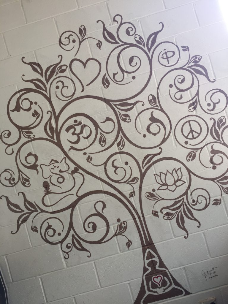 Painting on the Wall at Swami's Yoga Retreat