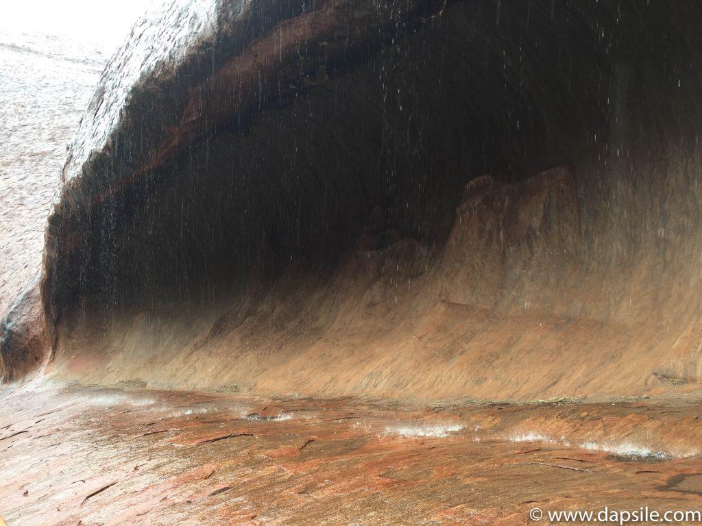 Rain Waterfall on tour from Alice Springs to Uluru