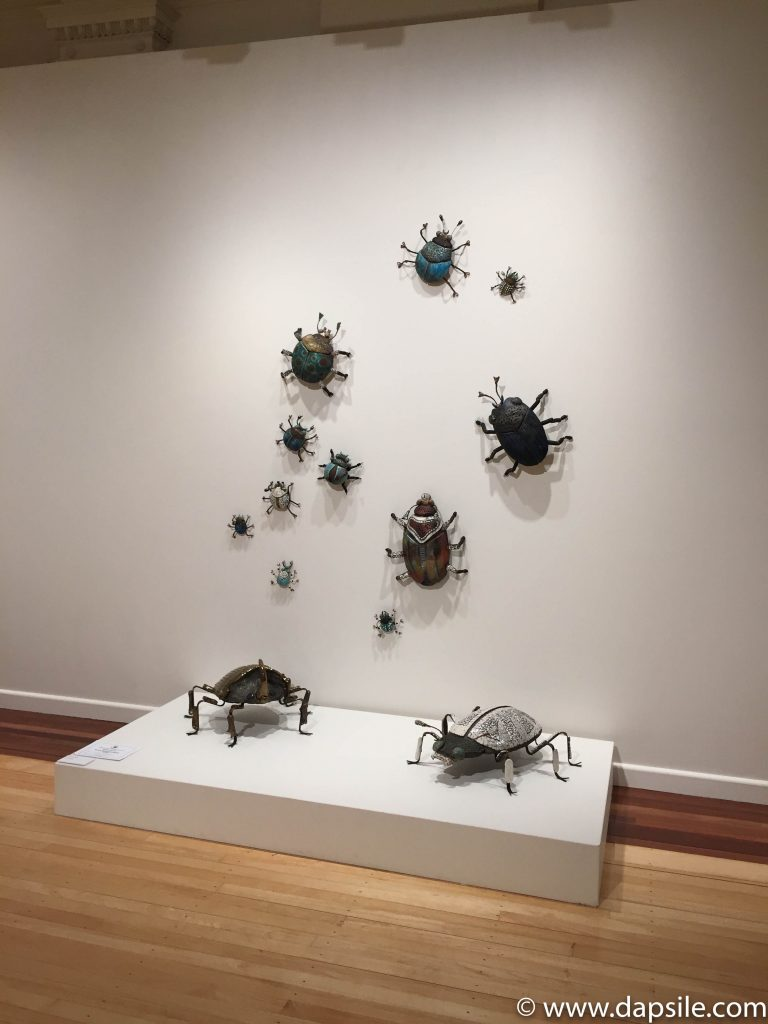 Cairns and the Surrounding Area Art Gallery Display of Metal Bugs
