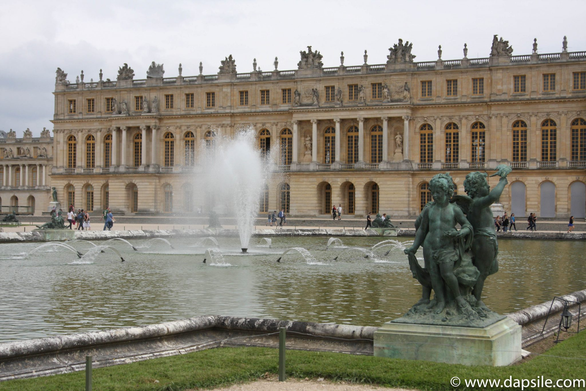 Palace of Versailles from a Water Fountain at Paris Sights
