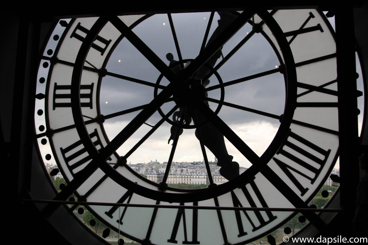 Paris through a clock at Musee d'Orsay