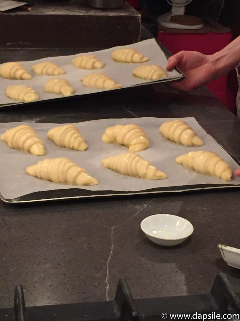 Croissants Before Being Baked in Paris Sights