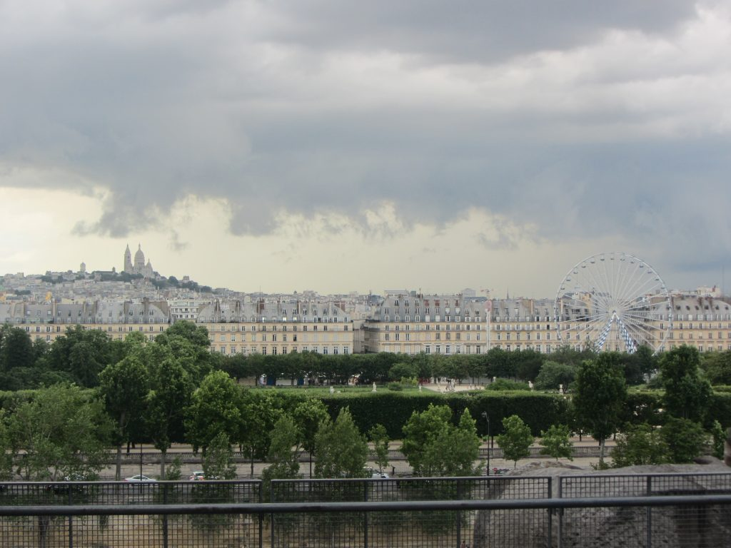 View of Paris from the Musee of d'Orsay in Paris