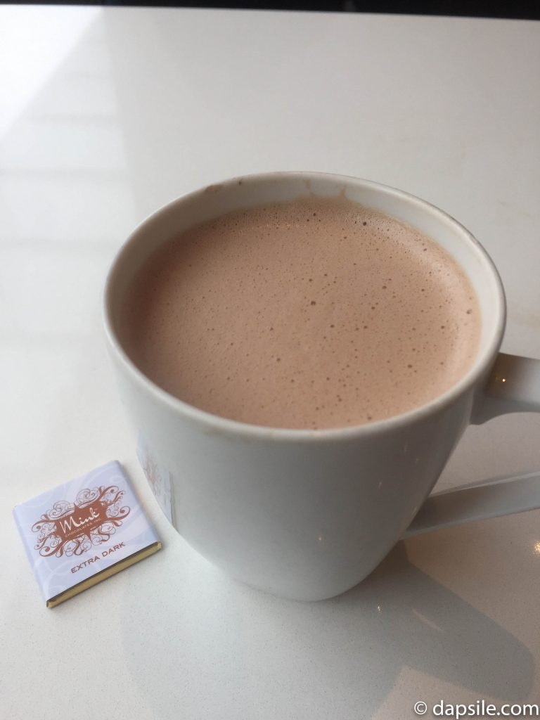 Mink Chocolates Dark Hot Chocolate with Small Dark Chocolate Square