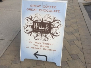 Mink Chocolates Folding Sign in South Surrey