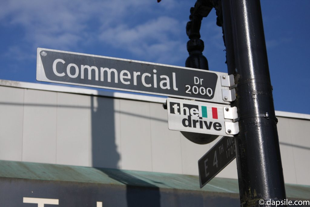 Commercial Drive Sign