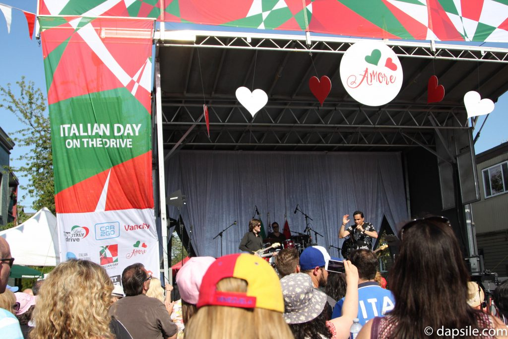Italian Day on the Drive Stage Summer Street Festivals in the Vancouver Area