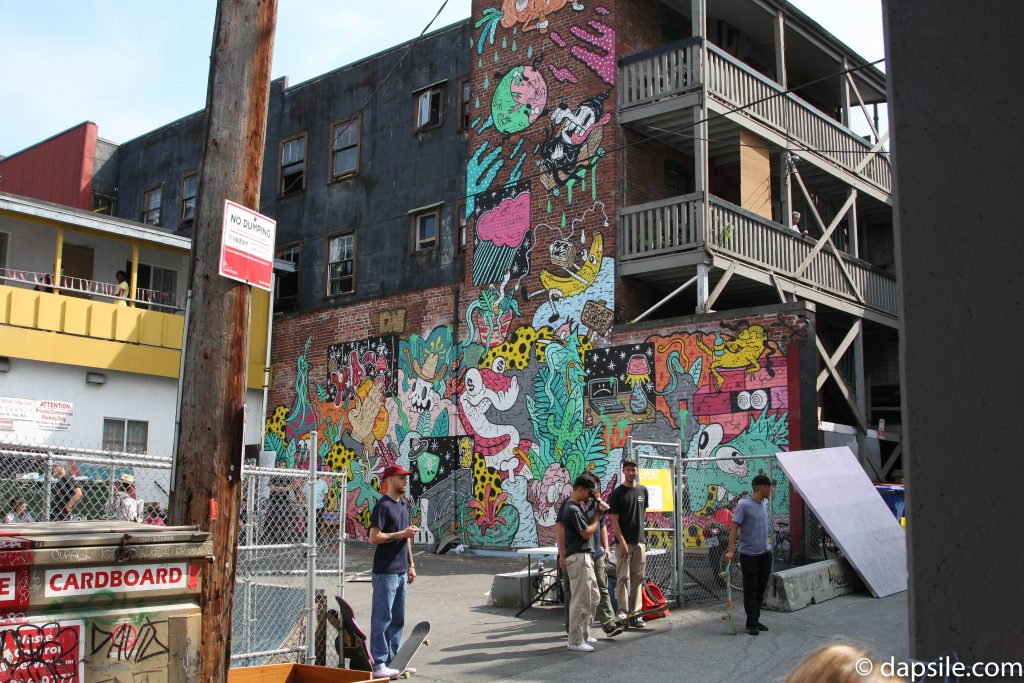 Mural Festival Mural While Watching Skaters Summer Street Festivals in the Vancouver Area