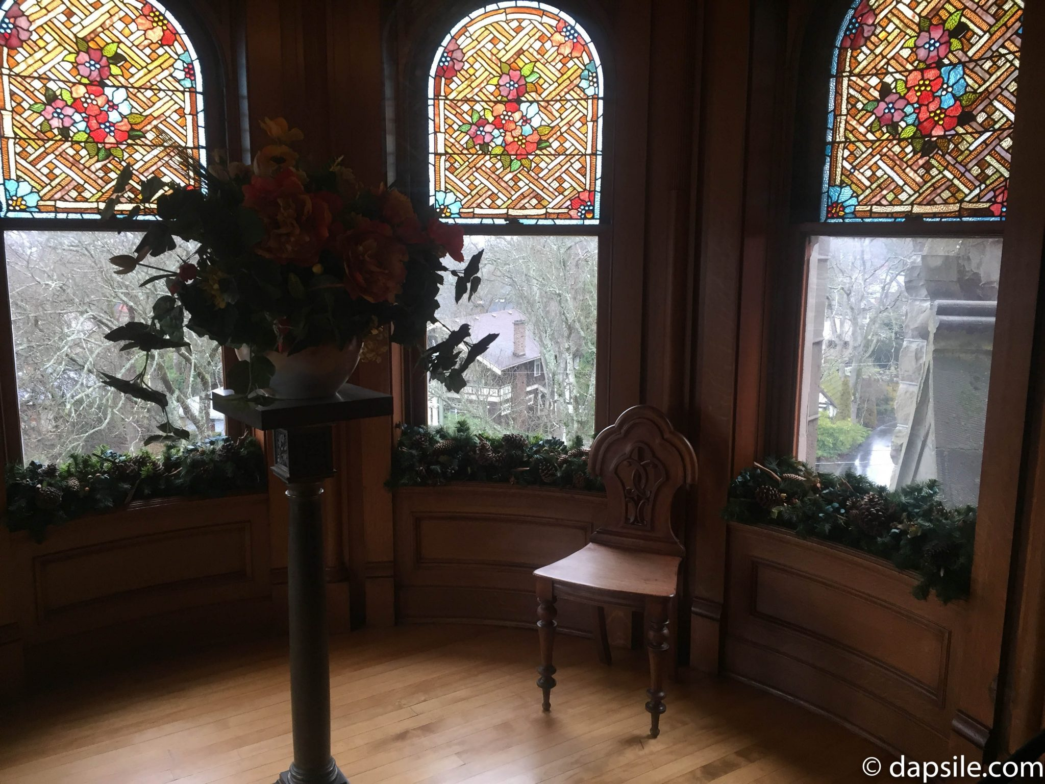 Stained Glass Windows and Partial View Craigdarroch Castle