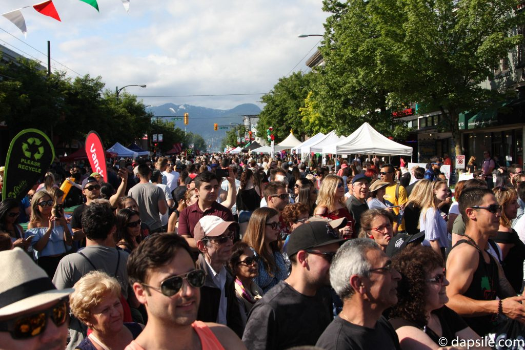 Summer Street Festivals in the Vancouver Area Street View at Italian Day on Commercial
