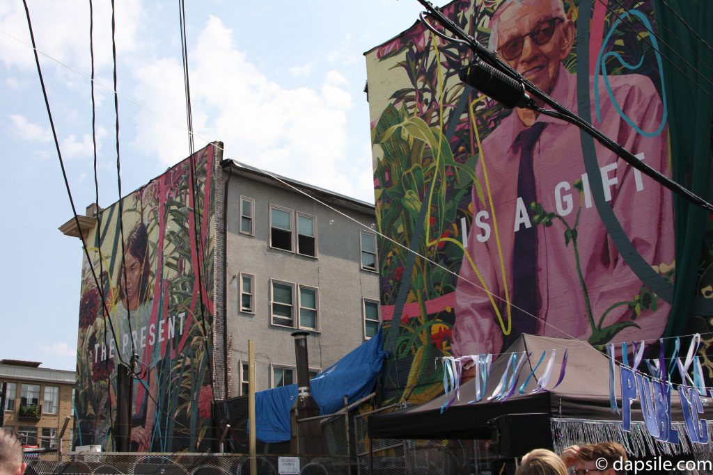 Summer Street Festivals in the Vancouver Area The Present is a Gift Dual Murals