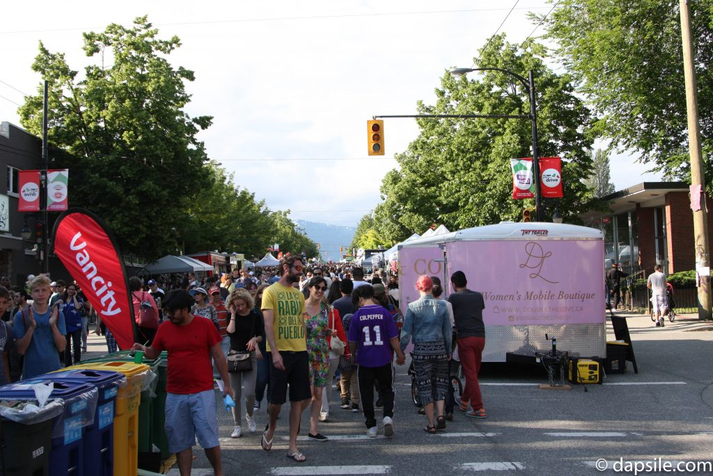 Women's mobile Boutique Summer Street Festivals in the Vancouver Area Italian Days on the Drive