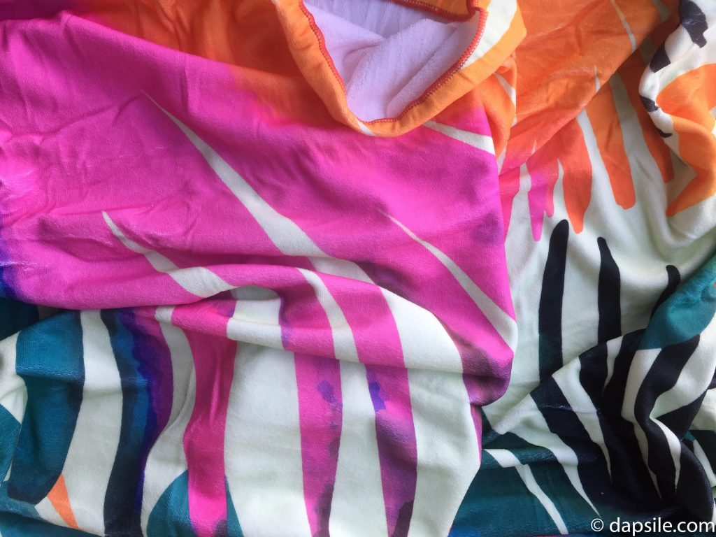 Summer & Rose Palm Print Beach Towel from the FabFitFun Summer 2018 box unwrapped