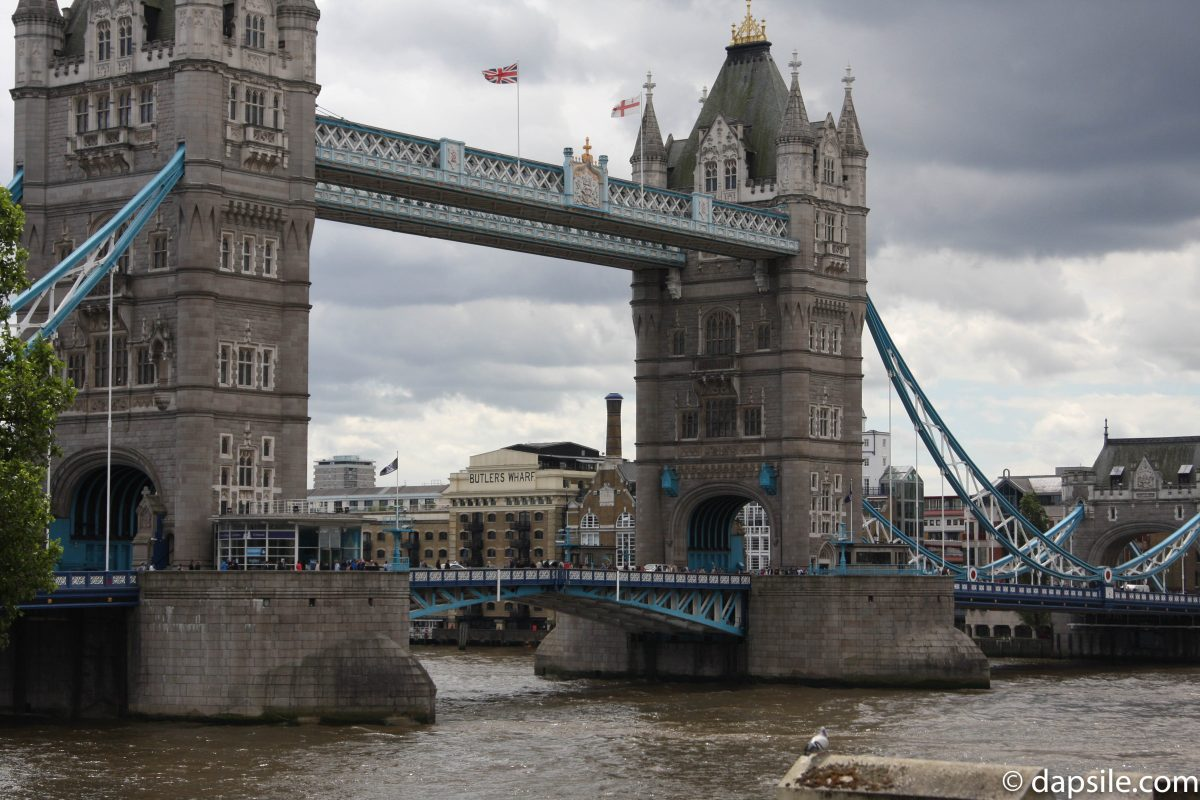 Tower Bridge in London for getting around London