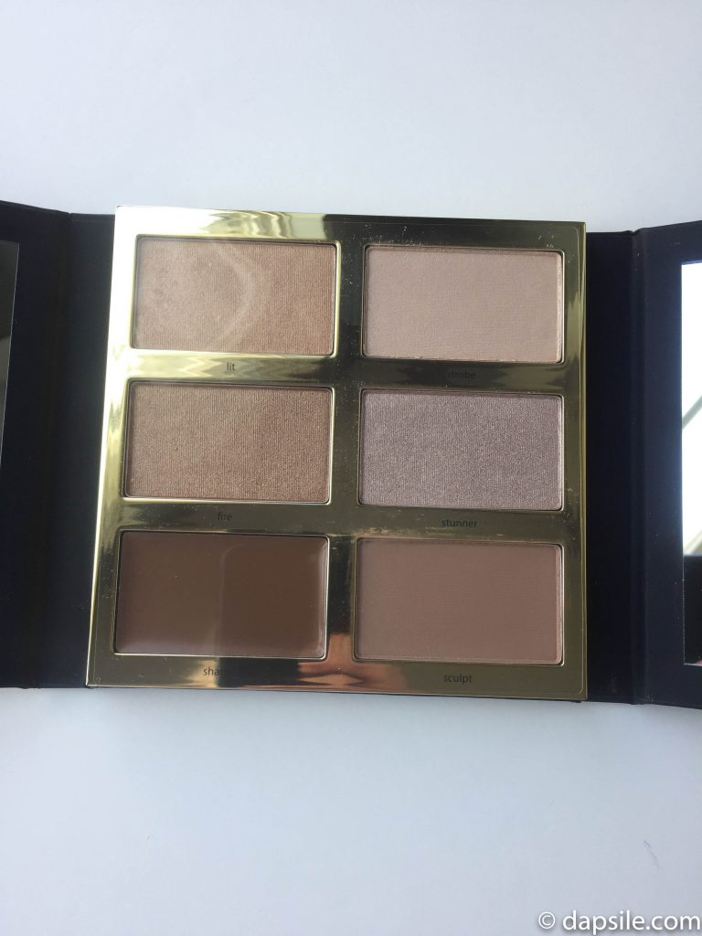opened tarte tarteist PRO glow highlight & contour palette from the FabFitFun Summer 2018 box