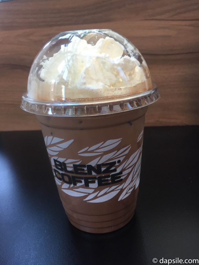 Blenz Cold Chocolate Drink with Whipped Cream
