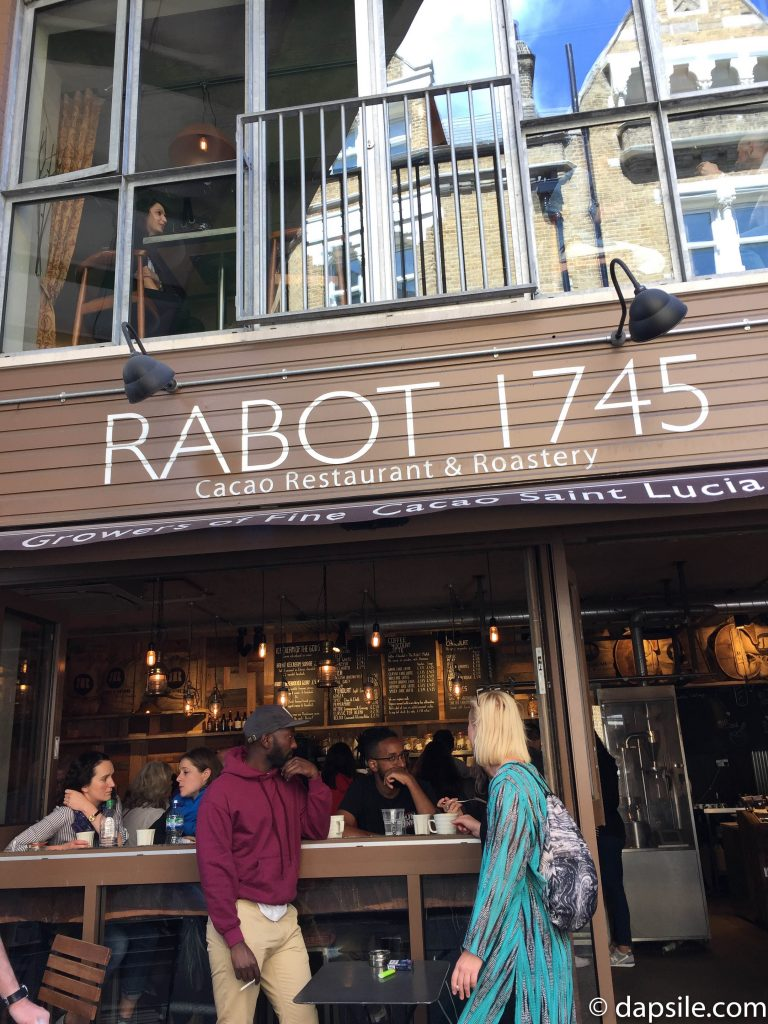 Rabot 1745 Cacao Restaurant & Roastery shopping and eating in London