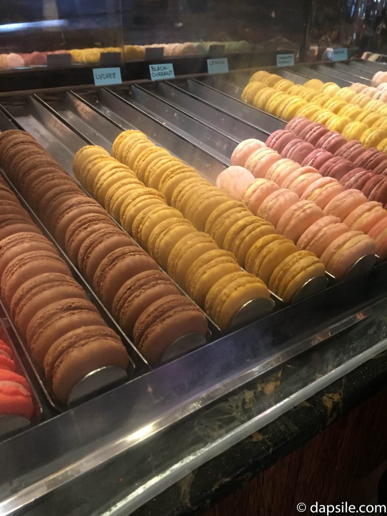 part of the Thierry Cafe and Chocolate Shop Macaron selection