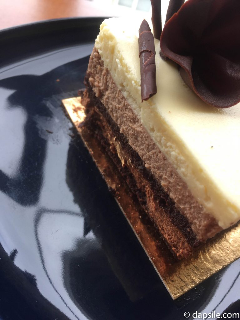 Thierry Cafe and Chocolate Shop Chocolate Trio Cake Slice