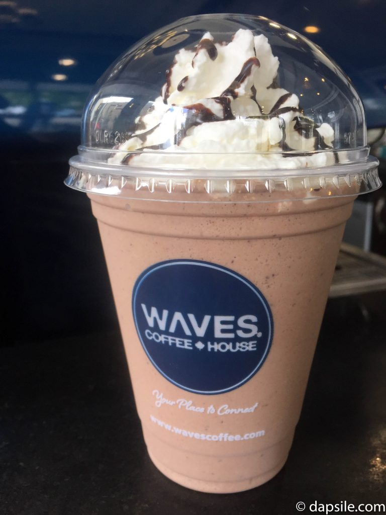 Waves Cold Chocolate Drink with Whipped Cream
