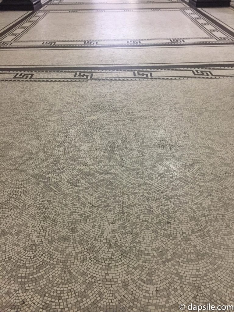 Beautiful Mosaic Floor in Brisbane City Hall using small pieces