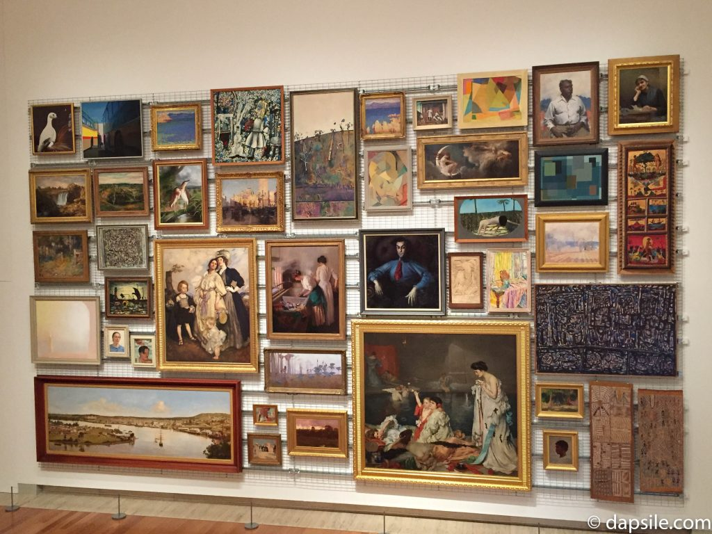 Queensland Art Gallery Art Display with Paintings