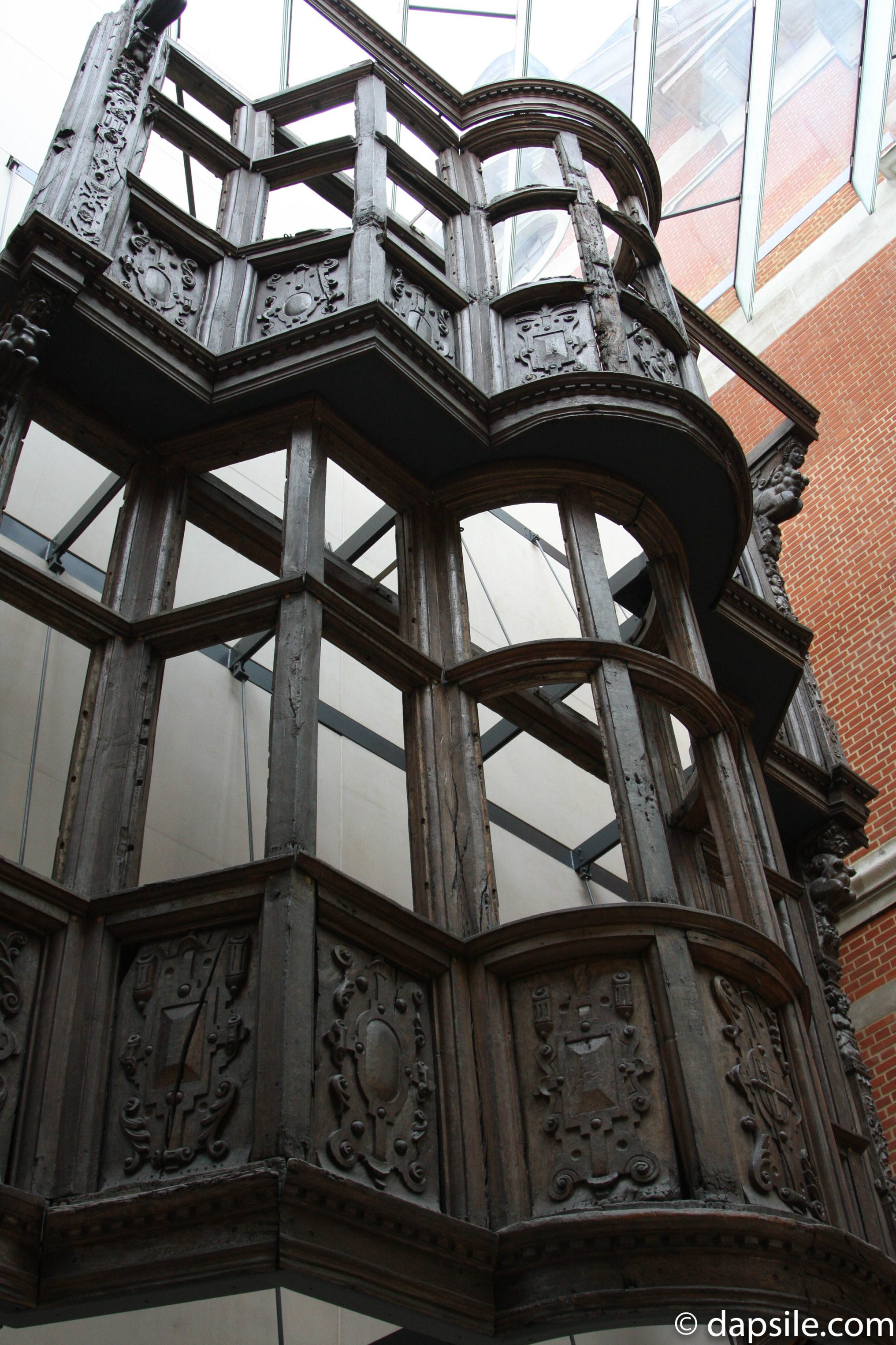British Building Facade in the V&A Museum