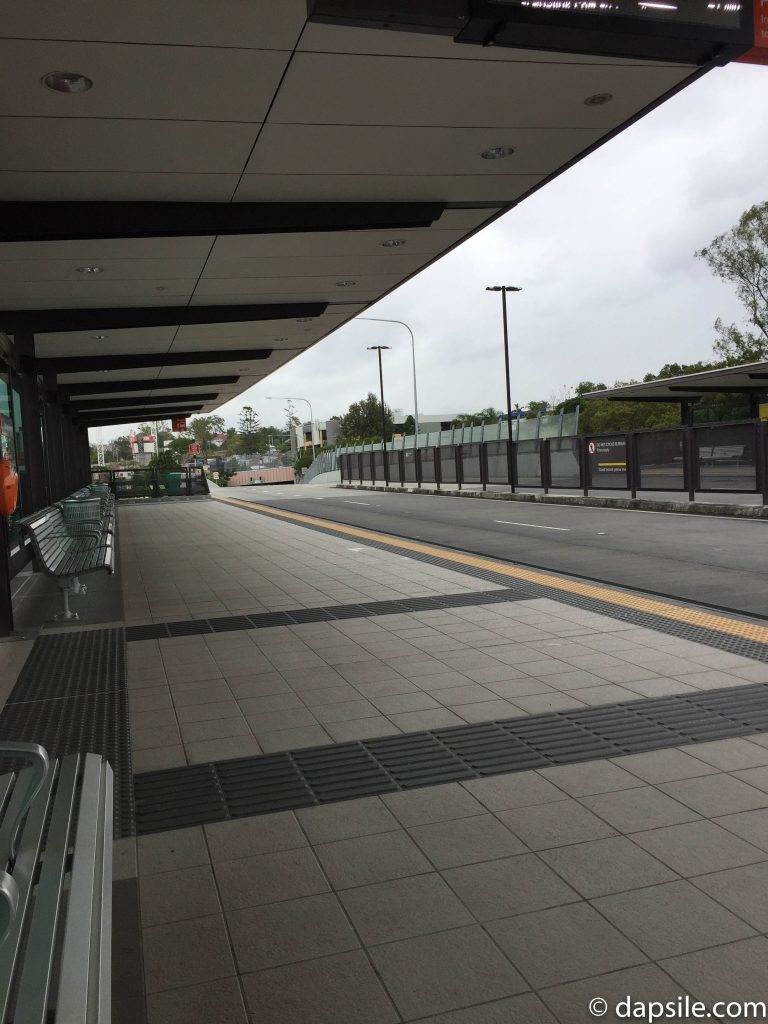 Busway Station In Brisbane Suburb