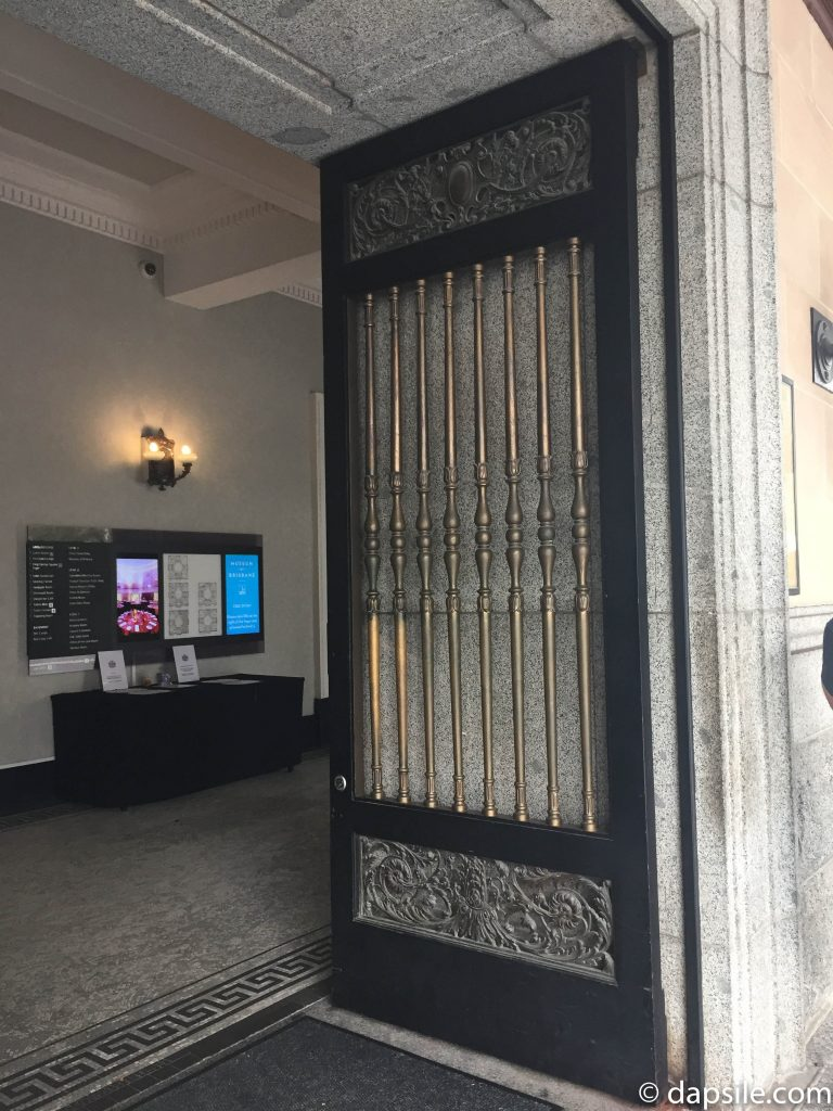 Front Door and Entrance Hall of Brisbane City Hall