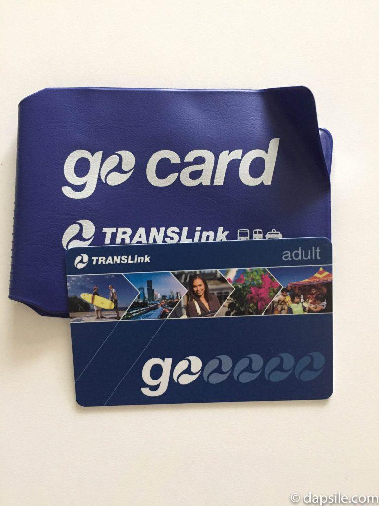 Go Card travel card in Brisbane