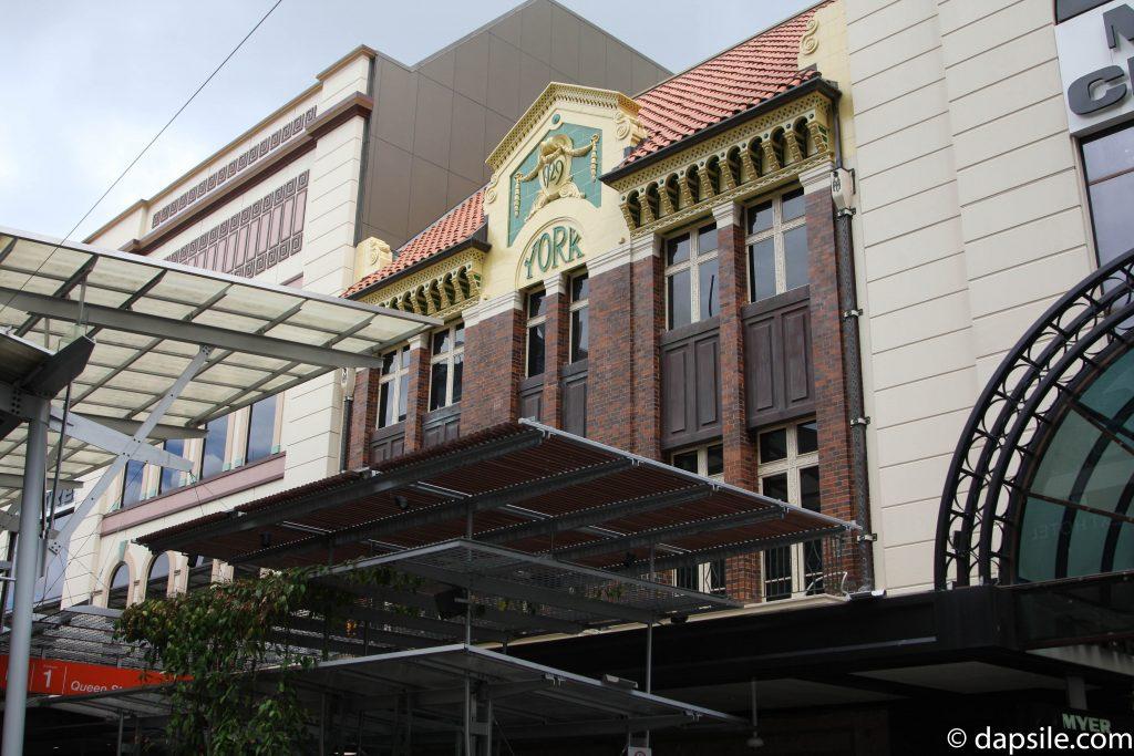 New York Hotel Facade in Queen Street Mall Brisbane CBD