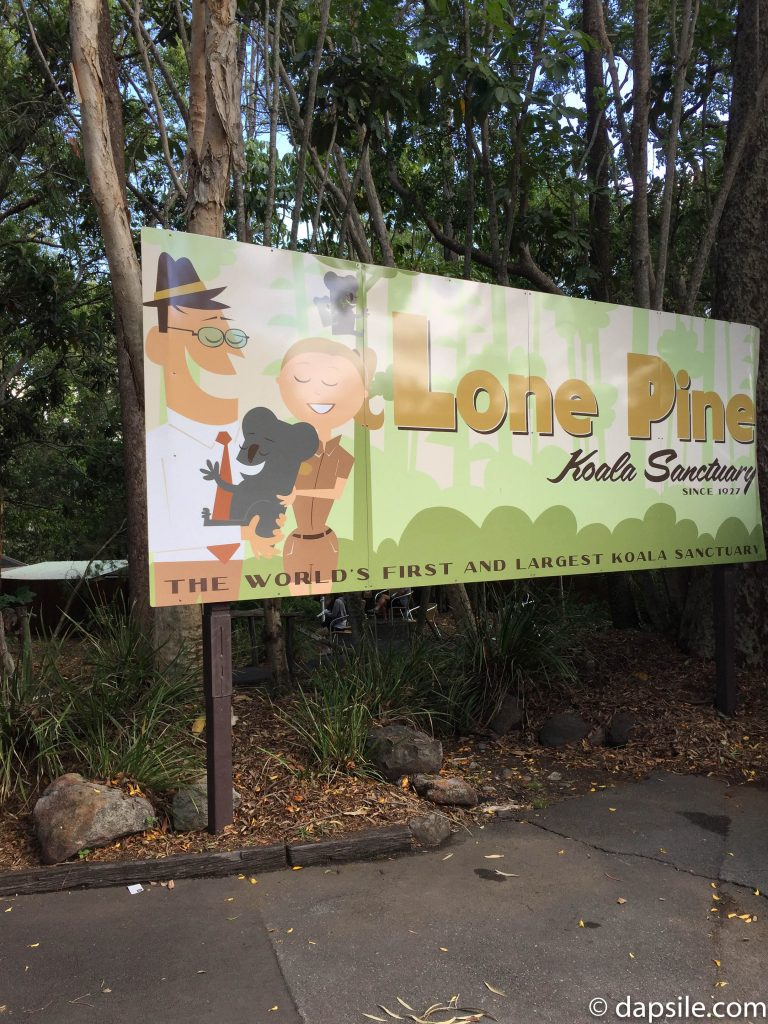 Lone Pine Koala Sanctuary Cartoon Sign